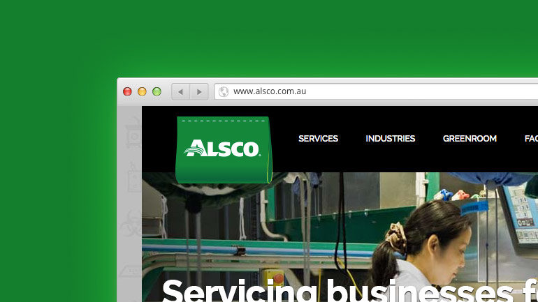 Alsco Australia website partial screenshot