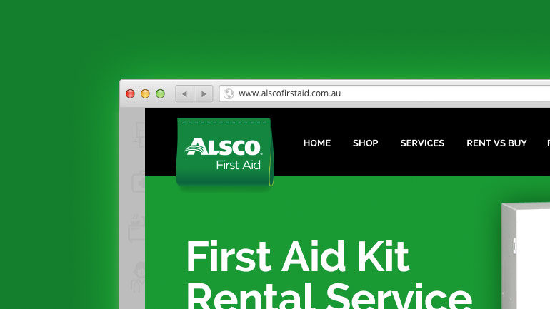 Alsco Australia First Aid website partial screenshot