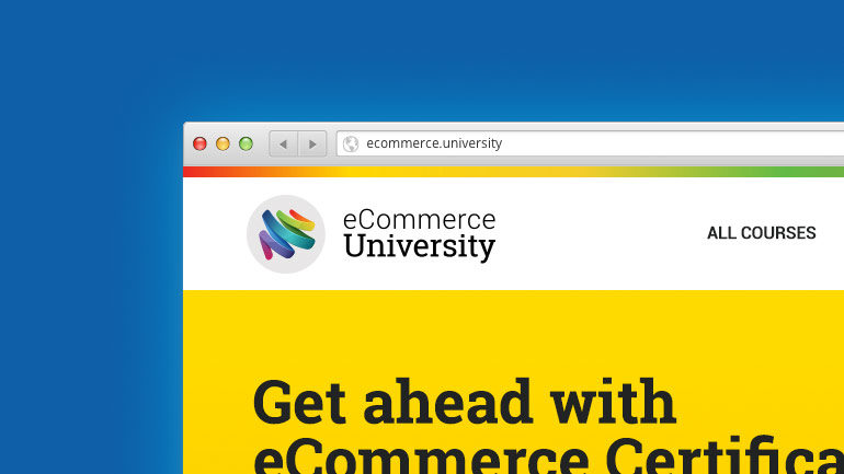 eCommmerce University website partial screenshot