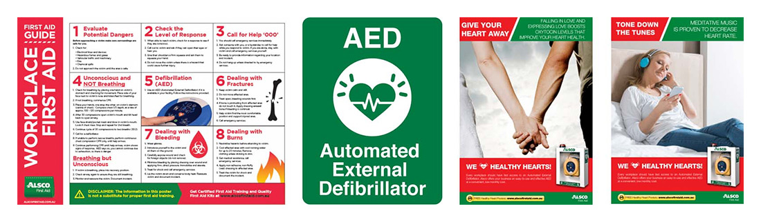 First aid poster montage