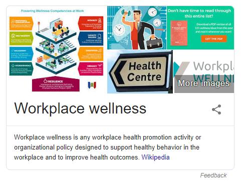 Employee wellness SERP