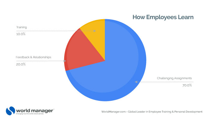 How Employees Learn pie chart