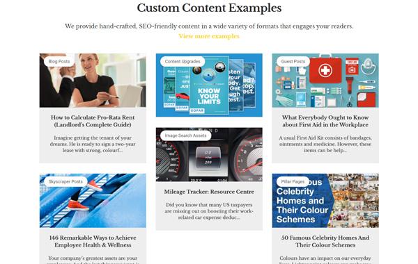 Custom Content Examples