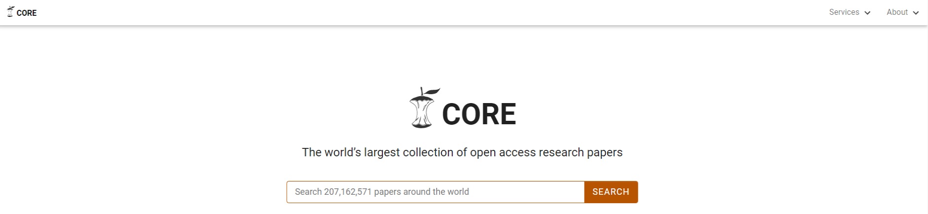 CORE is one of several platforms through which you can access research materials