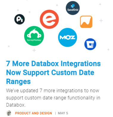 7 More Databox Integrations Now Support Custom Date Ranges